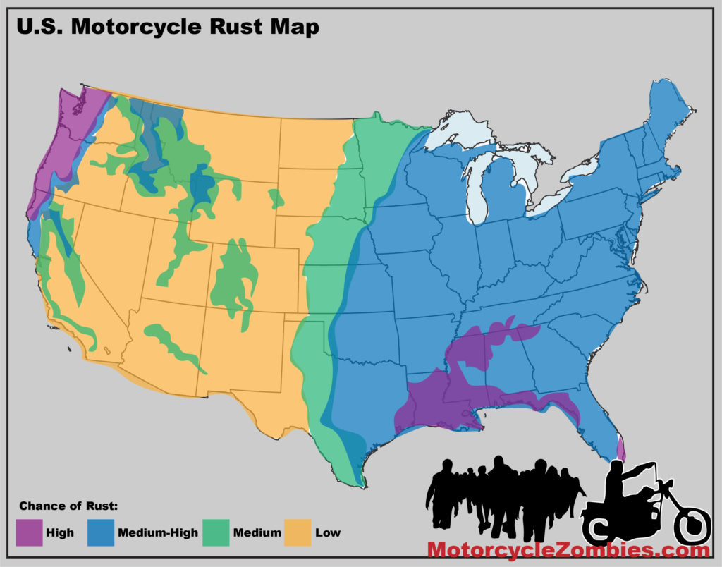 US Motorcycle Rust Map
