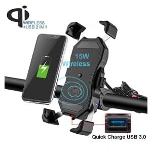 iMestou Motorcycle Cell Phone Charger Mount
